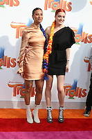 WESTWOOD, CA - OCTOBER 23: Icona Pop, Aino Jawo, Caroline Hjelt at the premiere Of 20th Century Fox's 'Trolls' at Regency Village Theatre on October 23, 2016 in Westwood, California. Credit: David Edwards/MediaPunch