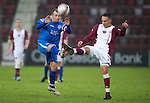 Hearts v St Johnstone...29.01.11  .Jody Morris and Suso Santana.Picture by Graeme Hart..Copyright Perthshire Picture Agency.Tel: 01738 623350  Mobile: 07990 594431