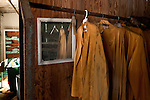 Hanging Uniform Station for the Servants of the Grossinger's Resort in the Catskills of New York