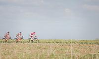 Dorian Godon (FRA/Cofidis) leads the peloton<br /> <br /> 72nd Nokere Koerse 2017 (1.HC)