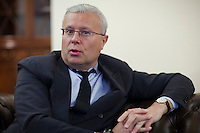 Moscow, Russia, 11/11/2010..Russian businessman and former KGB officer Alexander Lebedev in one of his central Moscow offices. Among his business properties are the National Reserve Bank, the Russian newspaper Novaya Gazeta and four UK Newspapers: the Evening Standard, The Independent, the Independent on Sunday and the new i newspaper.