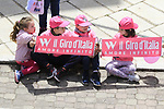 Young fans wait for the Giro to pass through Ala dei Sardi during Stage 2 of the 100th edition of the Giro d'Italia 2017, running 221km from Olbia to Tortoli, Sardinia, Italy. 6th May 2017.<br /> Picture: Eoin Clarke | Cyclefile<br /> <br /> <br /> All photos usage must carry mandatory copyright credit (&copy; Cyclefile | Eoin Clarke)