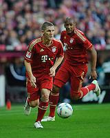 Fussball Bundesliga Saison 2011/2012 9. Spieltag FC Bayern Muenchen - Hertha BSC Berlin V.l.: Bastian SCHWEINSTEIGER (FCB) und Jerome BOATENG (FCB).