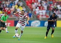 SANDY, UT - July 13, 2013: US Mens National Team forward Landon Donovan (10) during the USA vs Cuba match at Rio Tinto Stadium in Sandy, Utah. Final score USA 4, Cuba 1.