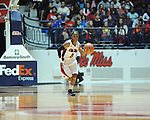 Ole MIss' Valencia McFarland (3) vs. Northwestern State in women's college basketball action in Oxford, Miss. on Friday, November 16, 2012. Ole Miss won 67-51.
