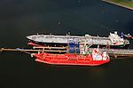 Nederland, Zeeland, Terneuzen, 09-05-2013; Zeeuws-Vlaanderen, Terneuzen. Site van de chemische fabriek van Dow (Dow Chemical Company) aan de Westerschelde. Afgemeerd zijn de olie- en chemicali&euml;n-tanker Sten Hidra (rood oranje) en de  Lpg-tanker BW Tokyo.<br /> De kraakinstallaties maken o.a. benzeen, ethyleen en propyleen (basischemicalien voor halffabrikaten voor verschillende kunststoffen).<br /> Zeeuws-Vlaanderen,  the south-west part of the province of Zeeland site of the chemical plant of Dow Chemical Company. This plant produces benzene, ethylene and propylene, the basis for various plastics. <br /> luchtfoto (toeslag op standard tarieven);<br /> aerial photo (additional fee required);<br /> copyright foto/photo Siebe Swart.<br /> luchtfoto (toeslag op standard tarieven);<br /> aerial photo (additional fee required);<br /> copyright foto/photo Siebe Swart.