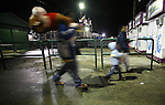Visitors leave the greater Baton Rouge State Fair Louisiana Thursday Oct 23 2008. Americans will go to the polls on Nov 4, at a time of great Financial crisis, war in Iraq and Afghanistan, to elect a  new President. A vote, that will affect not only America, but the whole world. Photo by Eyal Warshavsky .