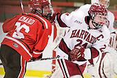Kelly Sabatine (St. Lawrence - 16), Leanna Coskren (Harvard - 24) - The Harvard University Crimson defeated the St. Lawrence University Saints 8-3 (EN) to win their ECAC Quarterfinals on Saturday, February 26, 2011, at Bright Hockey Center in Cambridge, Massachusetts.