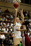 23 MAR 2012:  Kari Daugherty (44) left, of Ashland University, shoots over Kyria Buford, (21) right, of Shaw University during the Division II Womens Basketball Championship held at Bill Greehey Arena in San Antonio, TX.  Shaw University defeated Ashland University 88-82 for the national title.  Rodolfo Gonzalez/ NCAA Photos