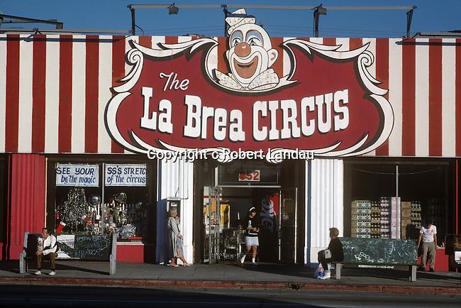 The La Brea Circus, Hollywood, CA, 1981