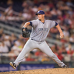 23 July 2016: San Diego Padres pitcher Ryan Buchter on the mound against the Washington Nationals at Nationals Park in Washington, DC. The Nationals defeated the Padres 3-2 to tie their series at one game apiece. Mandatory Credit: Ed Wolfstein Photo *** RAW (NEF) Image File Available ***
