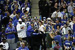 UK fans take a picture with Drake and Ashley Judd during a timeout of the UK men's basketball against Wake Forest for the second round of the NCAA tournament at New Orleans Arena on Saturday, March 20, 2010. The Cats won 90-60 over the Deacs. Photo by Adam Wolffbrandt | Staff