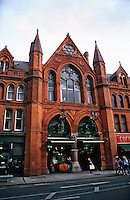 George's Street Arcade, Dublin, Ireland is a popular shopping destination for tourists.