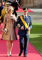Crown Prince Guillaume of Luxembourg and Countess Stéphanie de Lannoy, Royal Religious wedding - 02
