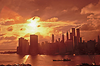 New York City at Sunset, Manhattan, New York CIty, New York