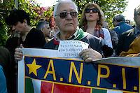Roma 25 Aprile 2008. Manifestazione per il 63° anniversario  della liberazione dal Nazifascismo da Porta San Paolo..Rome 25 April 2008. Demonstration for the 63th anniversary of liberation from Nazi-fascism from Porta San Paolo