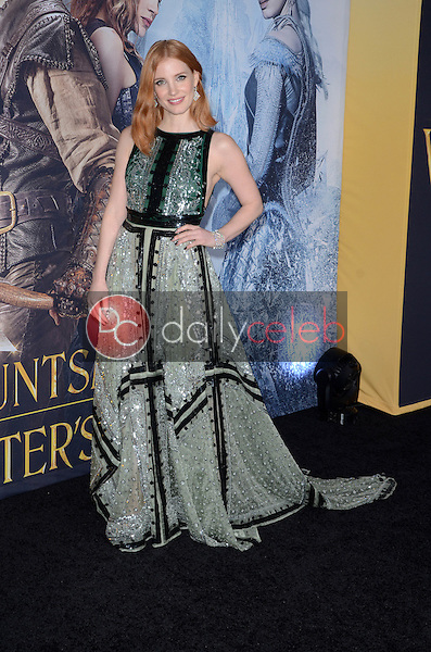 Jessica Chastain<br /> at the &quot;The Huntsman Winter's War&quot; American Premiere, Village Theater, Westwood, CA 04-11-16<br /> David Edwards/Dailyceleb.com 818-249-4998