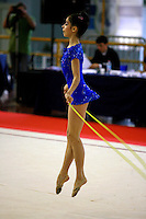 Filipa Siderova of Bulgaria makes little hops with rope at 2006 Trofeo Cariprato in Prato, Italy on June 17, 2006.  (Photo by Tom Theobald)