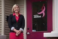 NWA Democrat-Gazette/J.T. WAMPLER -Lauren Marquette, interim executive director of Komen Ozark, Wednesday July 8, 2015.