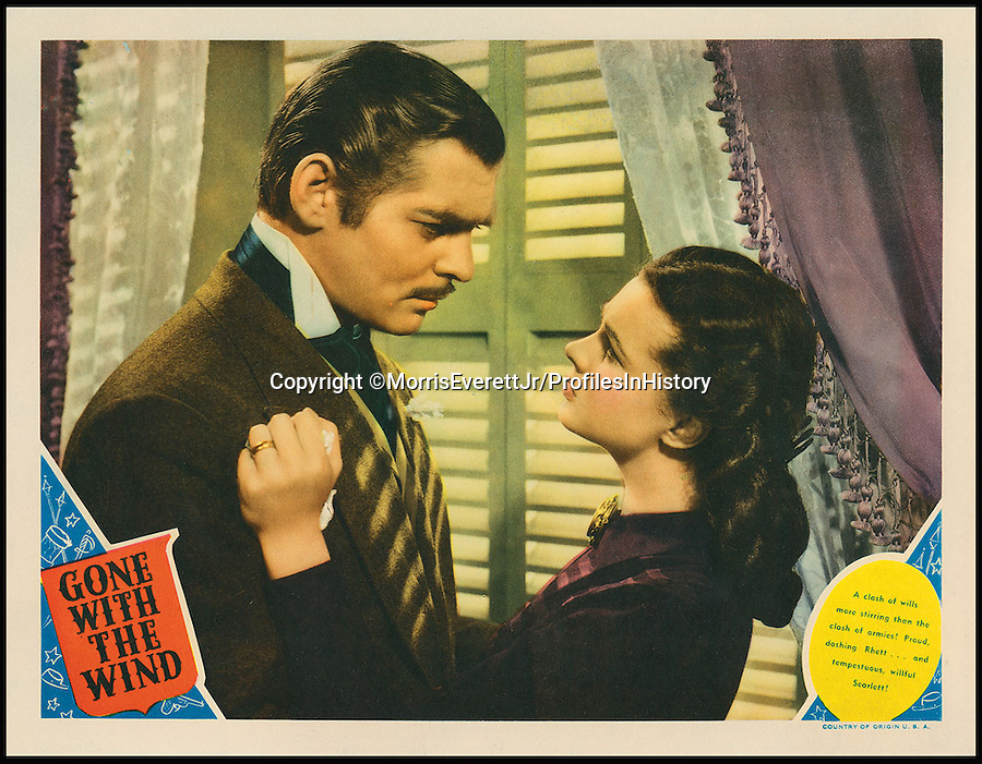 BNPS.co.uk (01202 558833)<br /> PIc: MorrisEverettJr/ProfilesInHistory/BNPS<br /> <br /> ***Please Use Full Byline***<br /> <br /> Gone With the Wind (1939). <br /> <br /> The world's largest collection of movie posters boasting artwork from almost every single film made in the last century has emerged for sale for &pound;5 million.<br /> <br /> The colossal archive features 196,000 posters from more than 44,000 films, and has been singlehandedly pieced together by one avid collector over the last 50 years.<br /> <br /> Morris Everett Jr has dedicated his life's work to seeking out original posters from every English-speaking film ever made and compiling them into a comprehensive library.<br /> <br /> The sale is tipped to make $8 million - around &pound;5 million pounds - when it goes under the hammer in one lot at Califonia saleroom Profiles in History on December 17.
