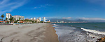 Puerto Vallarta; Beach; Jalisco; Mexico; panoramic