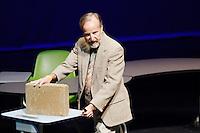 Architect Stephen Colley speaks during the TEDxSan Antonio 2010 event, Saturday, Oct. 16, 2010, at Trinity University in San Antonio. (Darren Abate/pressphotointl.com)