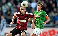 FUSSBALL   1. BUNDESLIGA   SAISON 2013/2014   7. SPIELTAG SV Werder Bremen - 1. FC Nuernberg                    29.09.2013 Adam Hlousek (li, 1. FC Nuernberg) gegen Clemens Fritz (re, SV Werder Bremen)