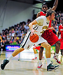 12 December 2010: University of Vermont Catamount forward Matt Glass, a Redshirt Junior from Underhill Center, VT, in action against the Marist College Red Foxes at Patrick Gymnasium in Burlington, Vermont. The Catamounts (7-2) defeated the Red Foxes  75-67 notching their 7th win of the season, and their best start since the '63-'64 season. Mandatory Credit: Ed Wolfstein Photo