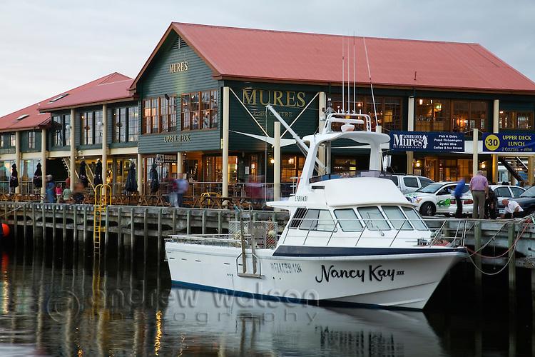Mures - a renowned seafood bistro on Victoria Dock.  Sullivans Cove, Hobart, Tasmania, Australia