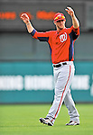 6 March 2012: Washington Nationals outfielder Bryce Harper warms up prior to a Spring Training game against the Atlanta Braves at Champion Park in Disney's Wide World of Sports Complex, Orlando, Florida. The Nationals defeated the Braves 5-2 in Grapefruit League action. Mandatory Credit: Ed Wolfstein Photo