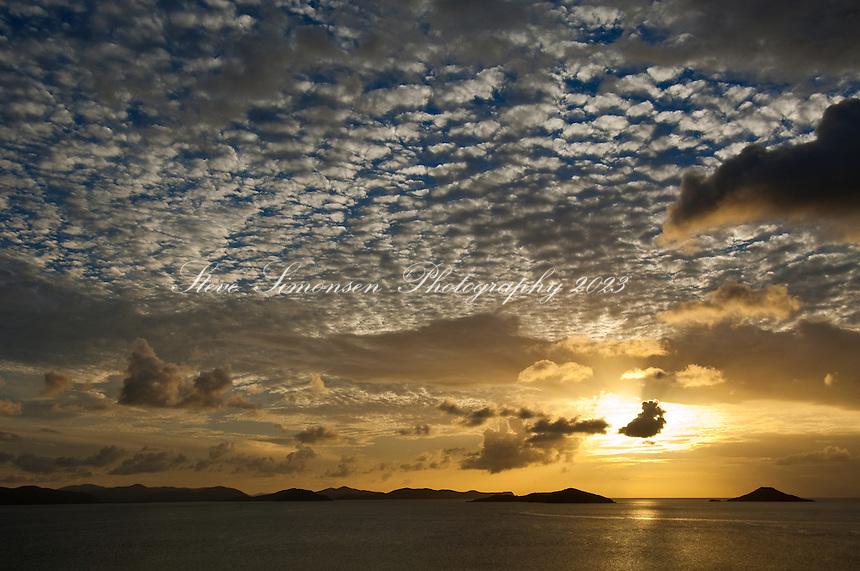 Savannah Bay Sunset from Katitche Point<br /> Virgin Gorda<br /> British Virgin Islands