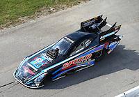 Sep 24, 2016; Madison, IL, USA; NHRA funny car driver John Bojec during qualifying for the Midwest Nationals at Gateway Motorsports Park. Mandatory Credit: Mark J. Rebilas-USA TODAY Sports