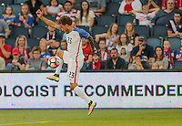Kansas City, KS. - May 28, 2016: The U.S. Men's national team take a 3-0 lead over Bolivia in second half action during an international friendly tuneup match prior to the opening of the 2016 Copa America Centenario at Children's Mercy Park.
