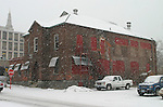 """NAUGATUCK, CT. 31 DECEMBER 30_NEW_123008DA04.jpg- Naugatuck has applied for funding from the federal government to renovate this former factory building on Maple Street downtown. The borough has applied for $1.75 million for the renovations through President-elect Barack Obama's plan to fund """"shovel ready"""" projects in an effort to stimulate the economy.  Darlene Douty"""
