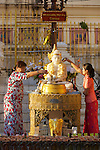 Pouring Water On Buddha, Shwedagon Pagoda