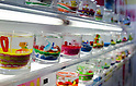 February 8th, 2012 : Tokyo, Japan - Decorated candle gift products are displayed for The 73rd Tokyo International Gift show 2012 at Tokyo Big Sight. Visitors are making their own decorated candles. There are over 3 million items including gift products and everyday goods. 2500 exhibitors showcase their unique products. This exhibition is held from February 8 to 10. (Photo by Yumeto Yamazaki/AFLO)..