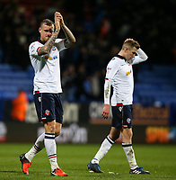 Bolton Wanderers' David Wheater applauds the fans after the final whistle<br /> <br /> Photographer Alex Dodd/CameraSport<br /> <br /> The EFL Sky Bet League One - Bolton Wanderers v Bury - Tuesday 18th April 2017 - Macron Stadium - Bolton<br /> <br /> World Copyright &copy; 2017 CameraSport. All rights reserved. 43 Linden Ave. Countesthorpe. Leicester. England. LE8 5PG - Tel: +44 (0) 116 277 4147 - admin@camerasport.com - www.camerasport.com