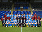 St Johnstone FC photocall Season 2016-17<br />Back row from left, Ewan Peacock (Chief Scout), Ally Gilchrist, Graham Cummins, Blair Alston, Murray Davidson, Steven Anderson, Brian Easton, Tam Scobbie, Joe Shaughnessy, Brad McKay, Keith Watson, Liam Gordon and George Browning (Academy GK Coach)<br />Middle row, from left, Alistair Stevenson (Academy Manager), Manny Fowler (Kit Manager), Paul Mathers (GK Coach), Craig Thomson, George Hunter, Mark Hurst, Alan Mannus, Zander Clark, David Wotherspoon, Eoghan McCawl, Scott Williams (Physio), Mel Stewart (Asst Physio) and Alex Headrick (Sports Scientist)<br />Front row from left, Stan Harris (Director)Liam Craig, Paul Paton, Steven MacLean, Dave Mackay, Callum Davidson (Asst Manager), Tommy Wright (Manager), Alec Cleland (1st Team Coach), Chris Millar, Danny Swanson, Chris Kane, Michael Coulson and Charlie Fraser (Director)<br />Picture by Graeme Hart.<br />Copyright Perthshire Picture Agency<br />Tel: 01738 623350  Mobile: 07990 594431