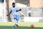 23 October 2015: North Carolina's Jordan McCrary. The University of North Carolina Tar Heels hosted the University of Louisville Cardinals at Fetzer Field in Chapel Hill, NC in a 2015 NCAA Division I Men's Soccer match. UNC won the game 2-1.