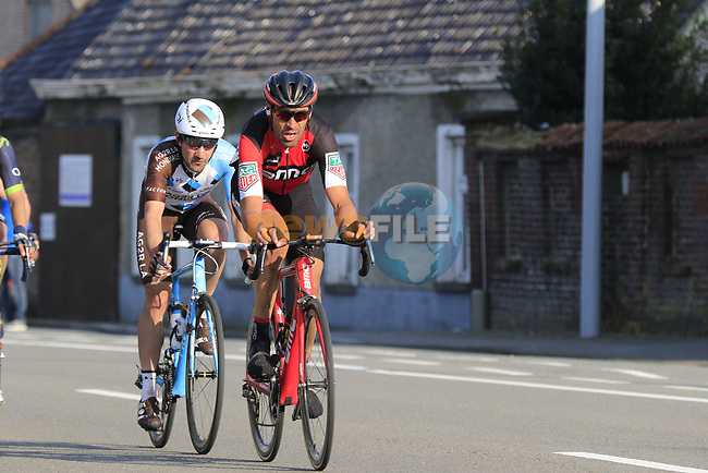 The peloton including Manuel Quinziato (ITA) BMC with 12k to go during the 60th edition of the Record Bank E3 Harelbeke 2017, Flanders, Belgium. 24th March 2017.<br /> Picture: Eoin Clarke   Cyclefile<br /> <br /> <br /> All photos usage must carry mandatory copyright credit (&copy; Cyclefile   Eoin Clarke)