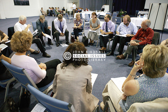 Colleagues during a discussion session at an NHS Training event on staff development,