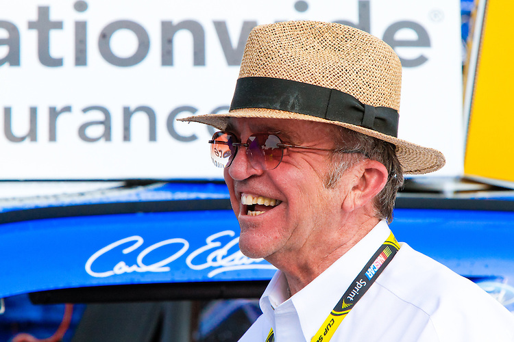 18 June, 2011: Jack Roush, winning owner of Carl Edwards number 60 Fastinal Ford, is happy after the Alliance Truck Parts 250 at Michigan International Speedway in Brooklyn, Michigan. (Photo by Jeff Speer :: SpeerPhoto.com)