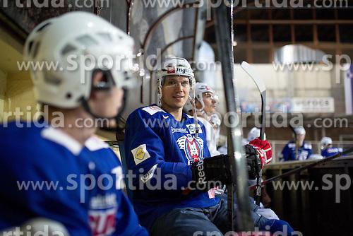 Marcel Rodman at first practice of Slovenian National Ice Hockey team before EIHC tournament in Innsbruck, on November 4, 2013 in Ledena dvorana Bled, Bled, Slovenia. (Photo by Matic Klansek Velej / Sportida.com)