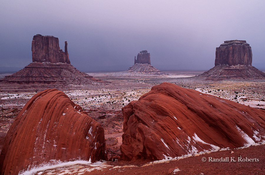 Hail storm, Monument Valley Tribal Park, Arizona