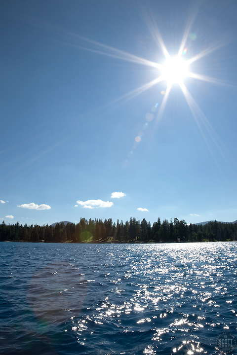 """Sun Over Lake Tahoe"" - This scene was photographed near the West shore of Lake Tahoe, California."