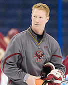Greg Brown (BC - Assistant Coach) - The Boston College Eagles practiced on Friday, April 6, 2012, during the 2012 Frozen Four at the Tampa Bay Times Forum in Tampa, Florida.
