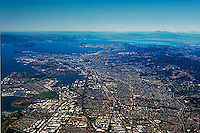 aerial photograph overview San Leandro, Oakland, Oakland airport, Alameda, California
