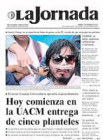 Uriel Sandoval es dado de alta del hospital general. Portada, 7 de diciembre de 2013