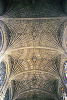 Cambridge: King's Chapel, Fan Vaulting. John Wastell, Master Mason. Photo '82.