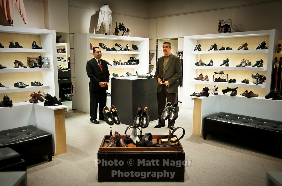 Employees at a men's shoe store (WOULD NOT GIVE NAMES AND DID NOT WANT STORE